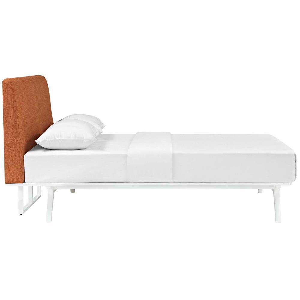 Modway Tracy Full Bed - White Orange