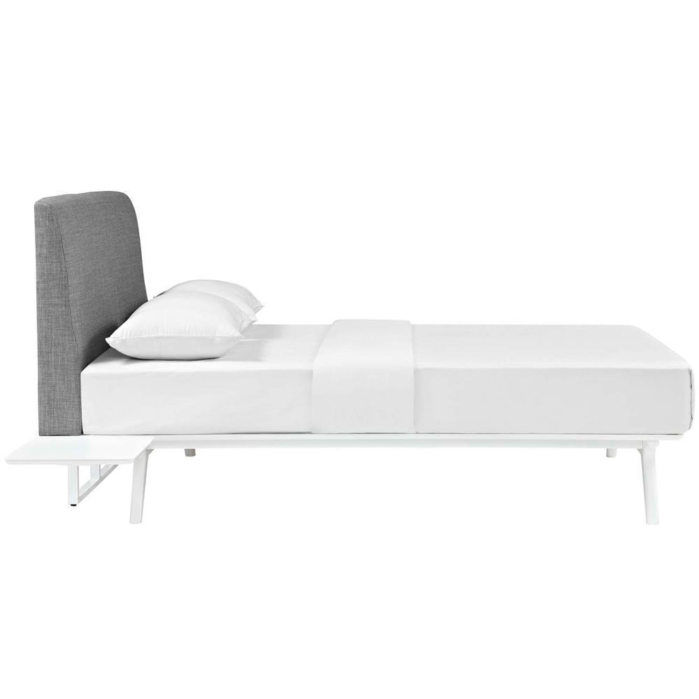 Modway Tracy 3 Piece Queen Bedroom Set - White Gray