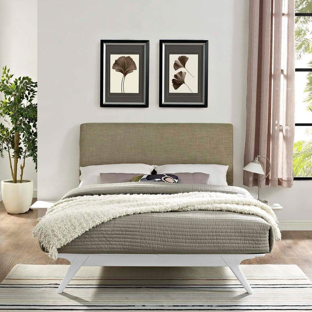 Modway Tracy 3 Piece Queen Bedroom Set - White Latte