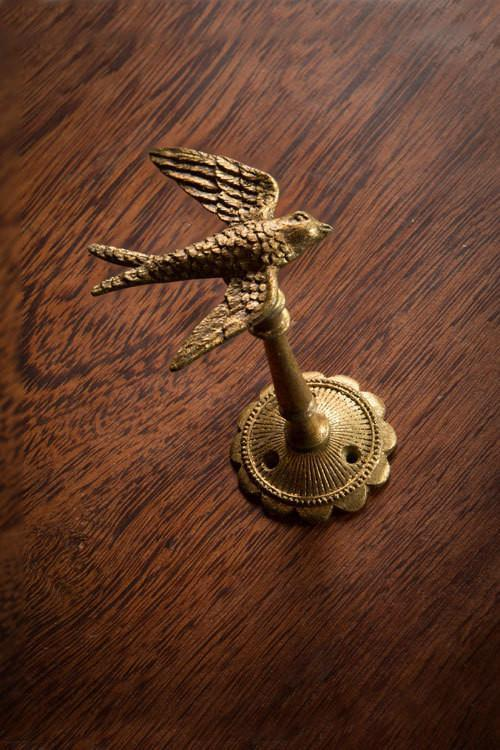 Vagabond Vintage Pewter Gold Bird Hook - Set of 2