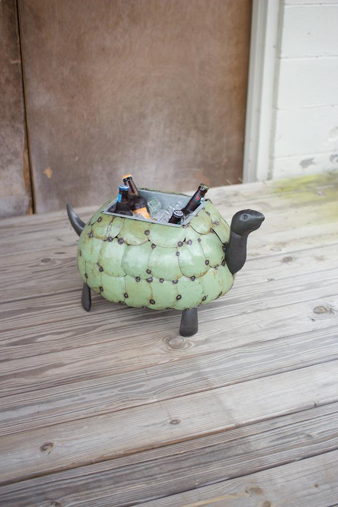 Kalalou Recycled Metal Tortoise Planter Or Drink Tub