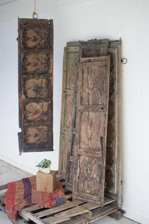 Kalalou Antique Wooden Door Panel Wall Art - Assorted Designs