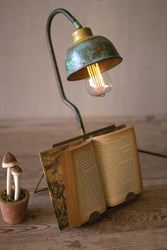 Kalalou Table Lamp With Book Holder