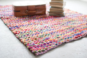 Kalalou Recycled Multi-Color Cotton Rug