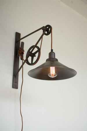 Kalalou Double Pulley Wall Sconce