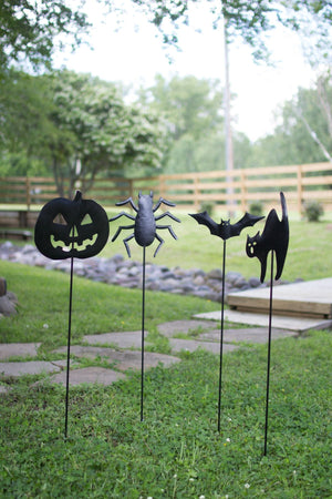 kalalou Set Of 4 Halloween Yard Stakes