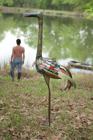 Kalalou Recycled Tall Iron Bird