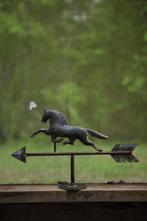 Kalalou Table Top Galvanized Horse Weathervane