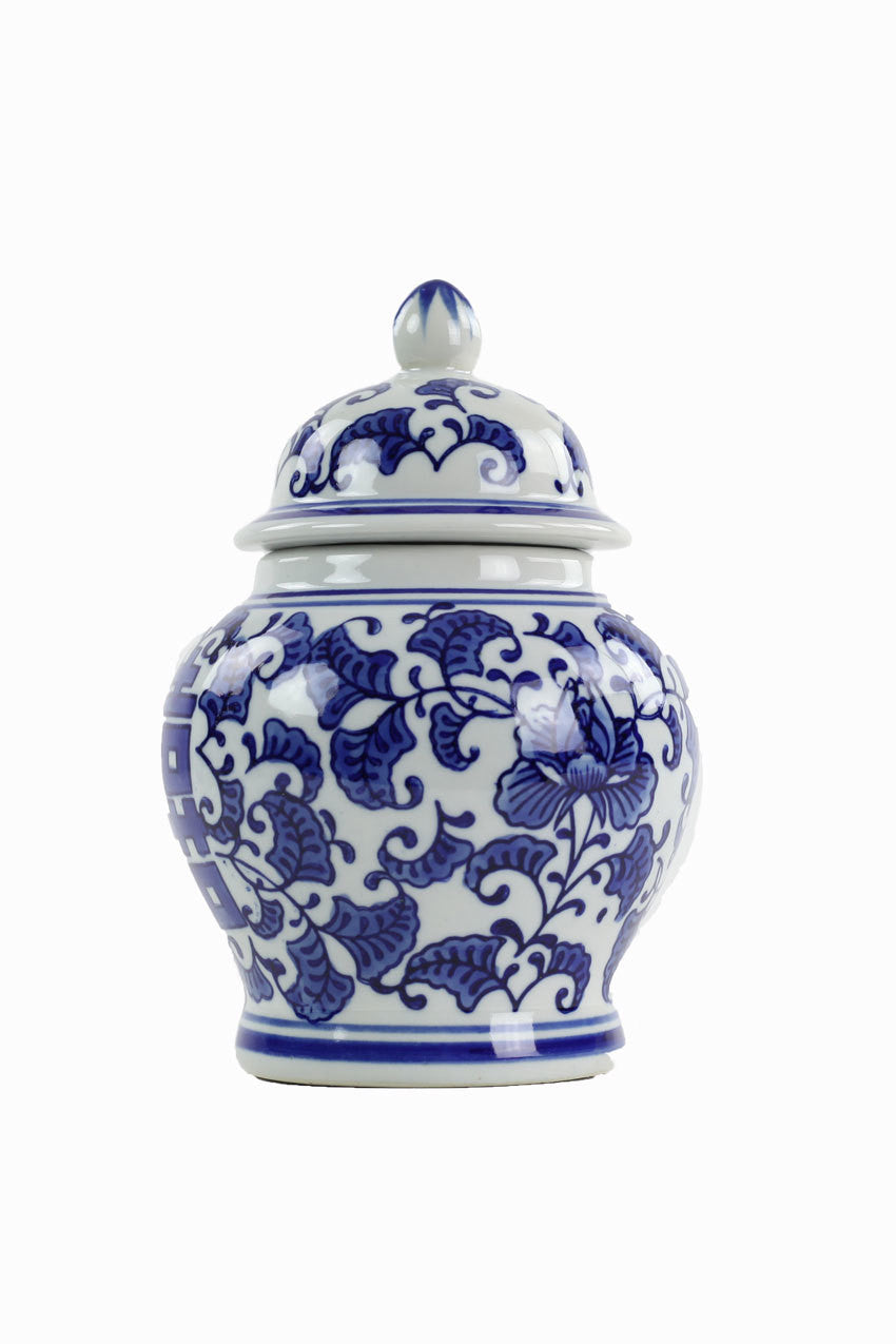 Blue and White Ginger Jar - Set of 2