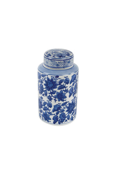 Blue & White Ceramic Jar - II - Set of 3