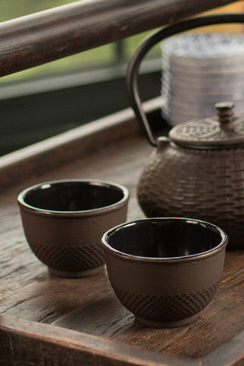 Cast Iron Brown Cup - Set of 6
