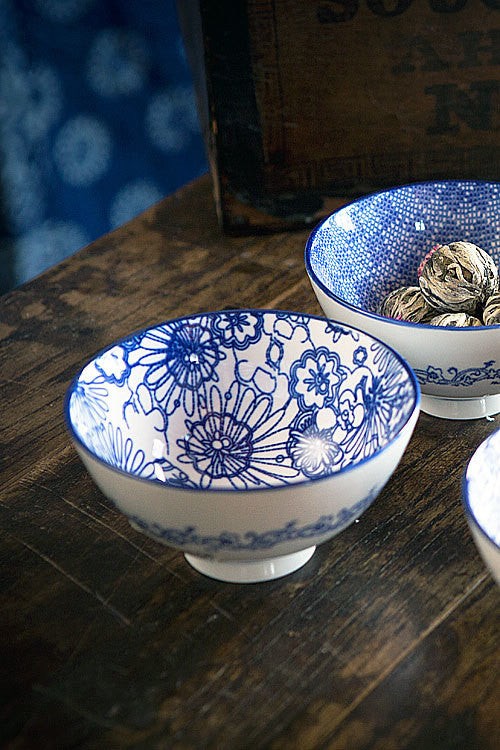 Blue and White Bowl - OC-BOWL-S4B - Set of 6