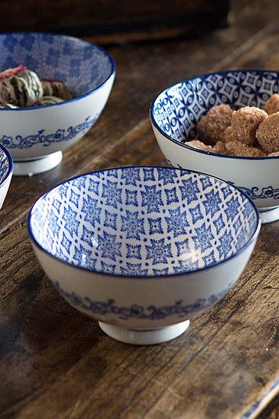 Blue and White Bowl - OC-BOWL-S4C - Set of 6