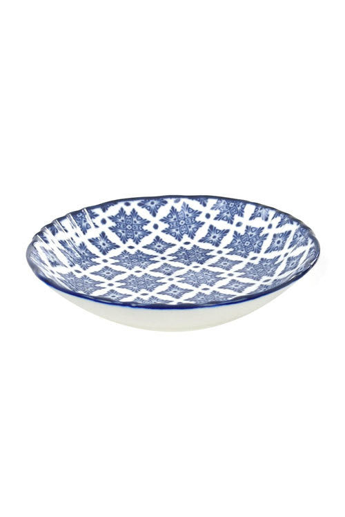 Blue and White Small Appetizer Dish - OC-SMLDIS-S4C - Set of 12