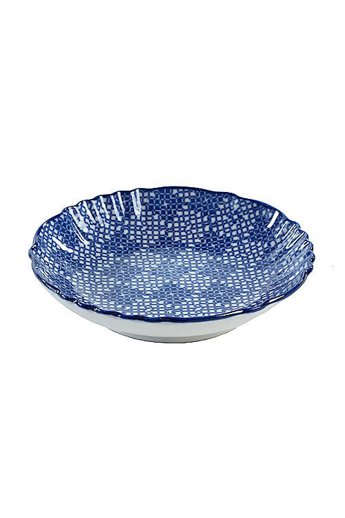 Blue and White Small Appetizer Dish - OC-SMLDIS-S4D - Set of 12