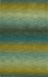 Ombre Stripes Ocean Indoor Rug