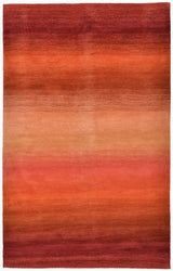 Ombre Stripes Sunrise Indoor Rug