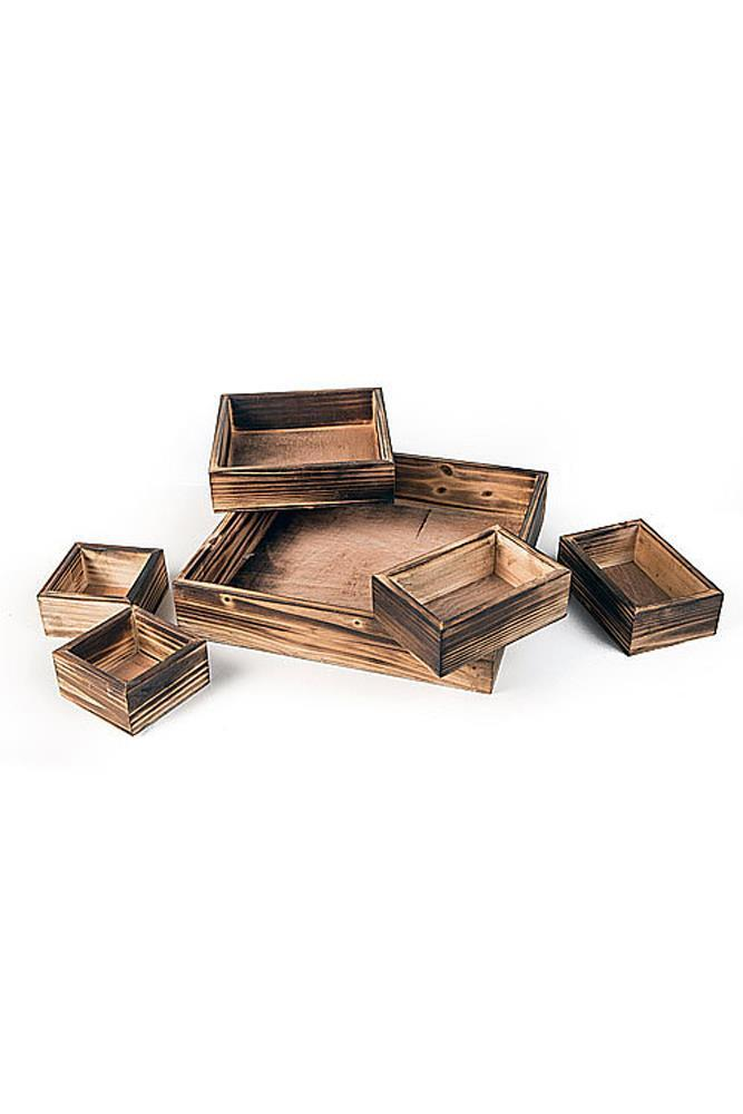 Vagabond Vintage Burnt Pine 6 Compartment Nesting Boxes