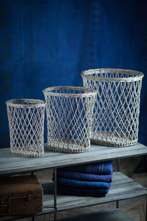 Vagabond Vintage Hamper Baskets - Set of 3