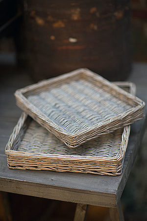 Set of Two Willow Trays