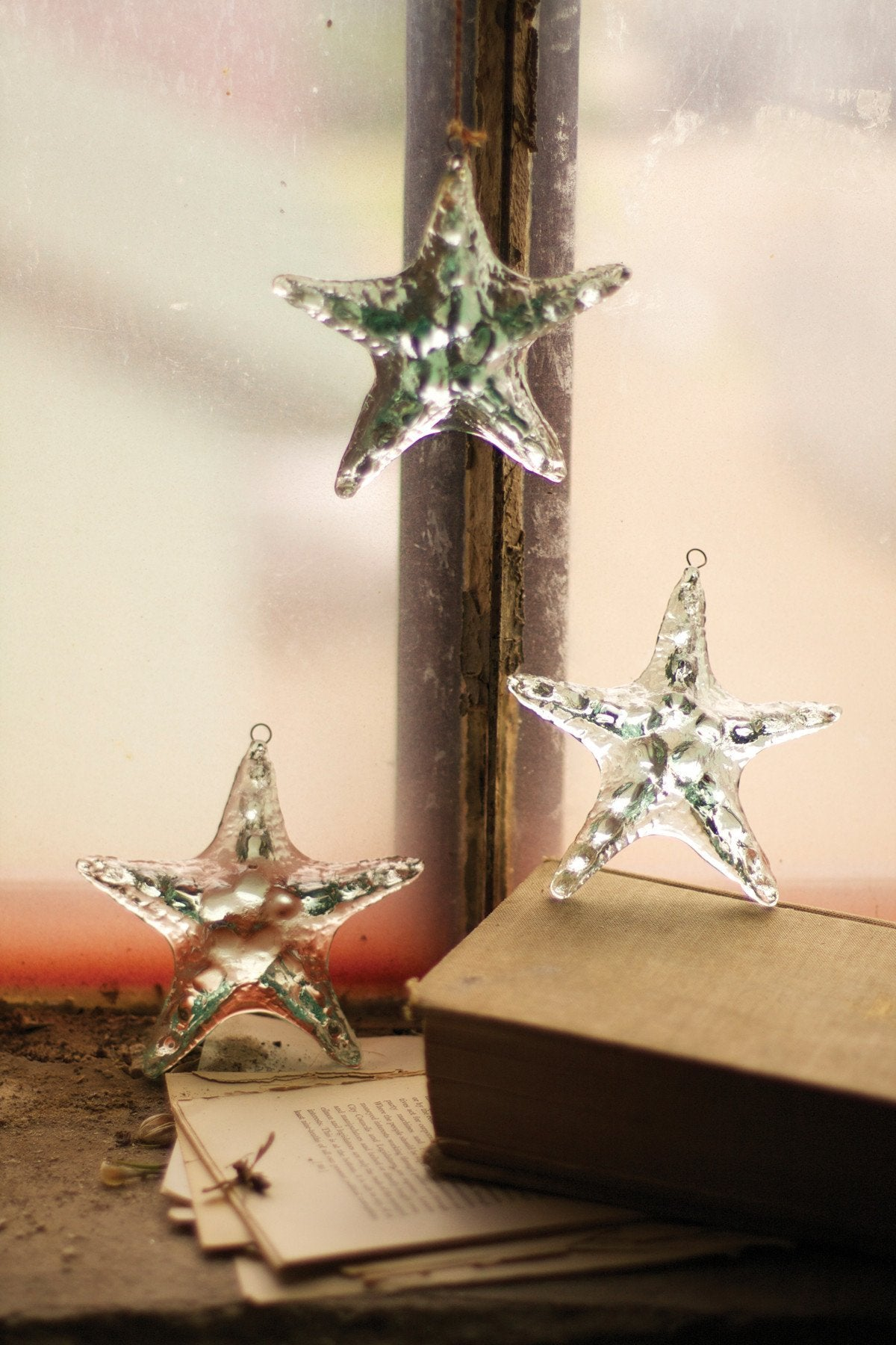 Kalalou Glass Starfish Ornament (Min 4)