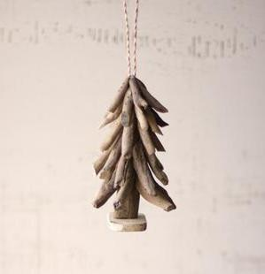 Kalalou Driftwood Christmas Tree Ornament
