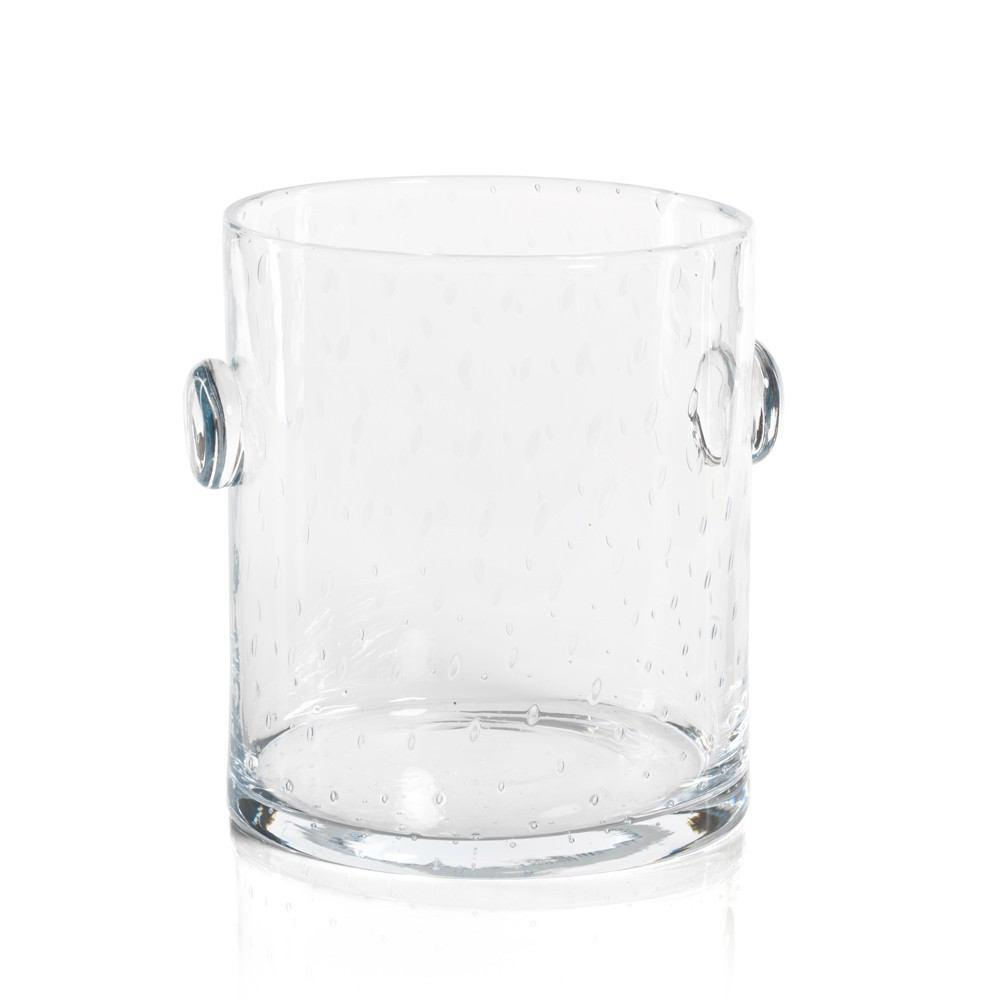Zodax Lagoon Bubbled Glass Ice Bucket, 9-Inch Tall