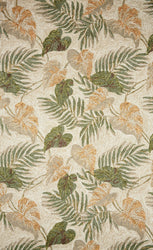 Ravella Tropical Leaf Neutral Indoor/Outdoor Rug