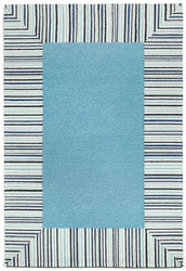 Ravella Pin Stripe Bdr Blue Indoor/Outdoor Rug