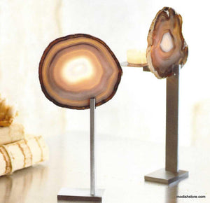 Roost Agate Tealight Holder - Set Of 2