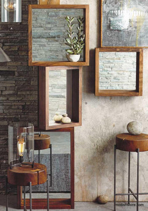 Roost Black Walnut Box Mirrors