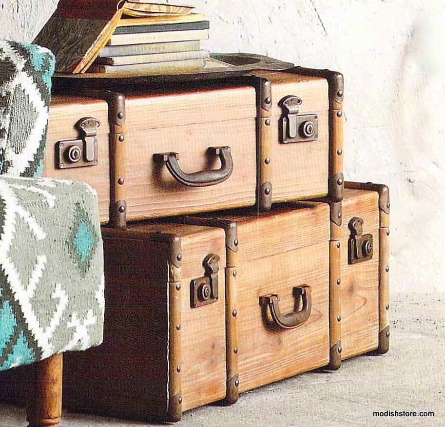 Roost Fir Nested Trunks - Set Of 3