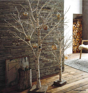 Roost Lighted Birch Artificial Trees