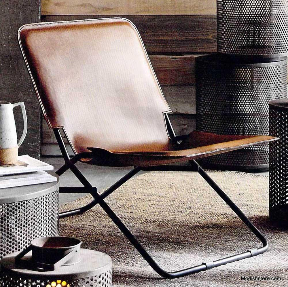 Roost Ludlow Leather Folding Chair