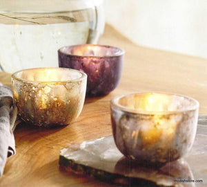 Roost Matte Mercury Mini Tealight Bowls - Set Of 12