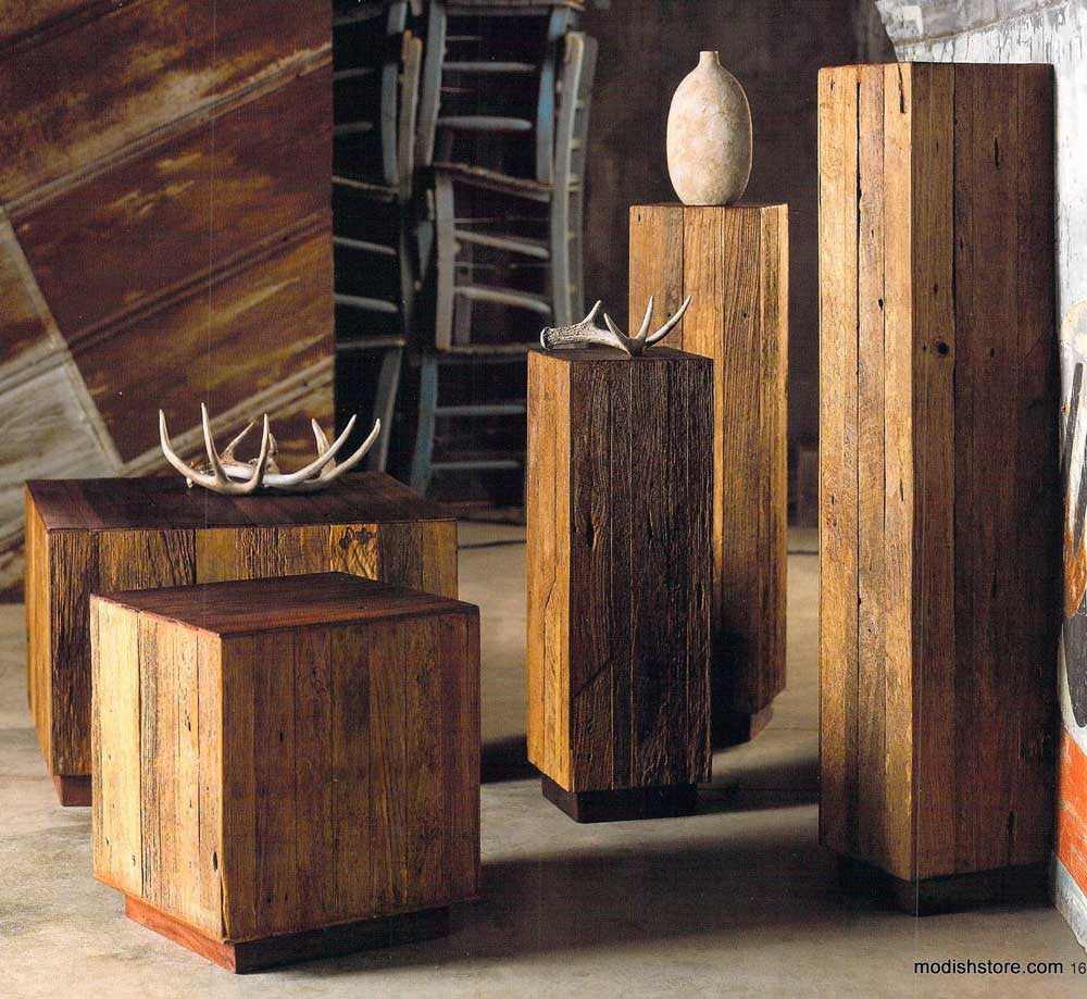Roost Reclaimed Wood Tables & Pedestals