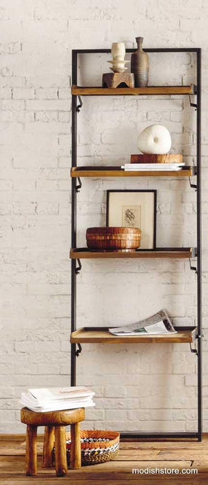 Roost Recycled Teak Leaning Shelf