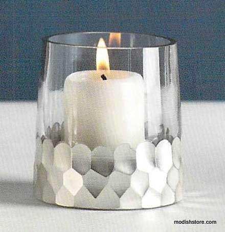 Roost Silvered Chisel Votive - Set/6 - Sold out