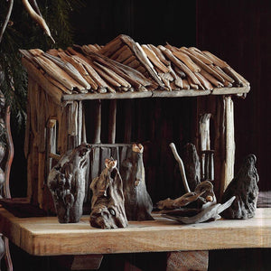 Roost Driftwood Nativity Set
