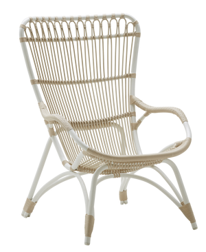 Sika Design Monet Chair - Alu-Rattan - Dove White