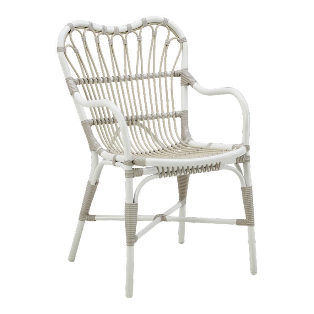 Sika Design Margaret Chair - Alu-Rattan - Dove White