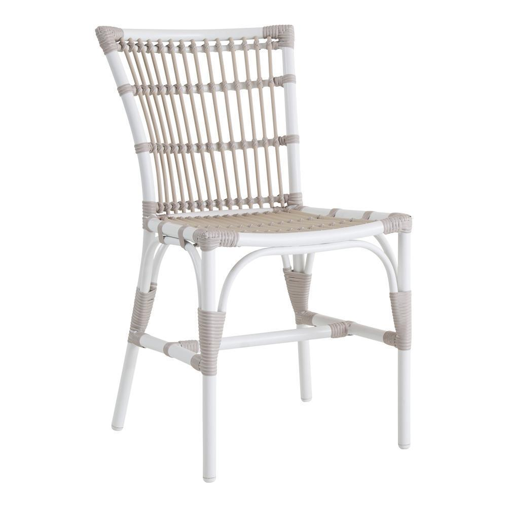 Sika Design Elisabeth Chair - Alu-Rattan - Dove White