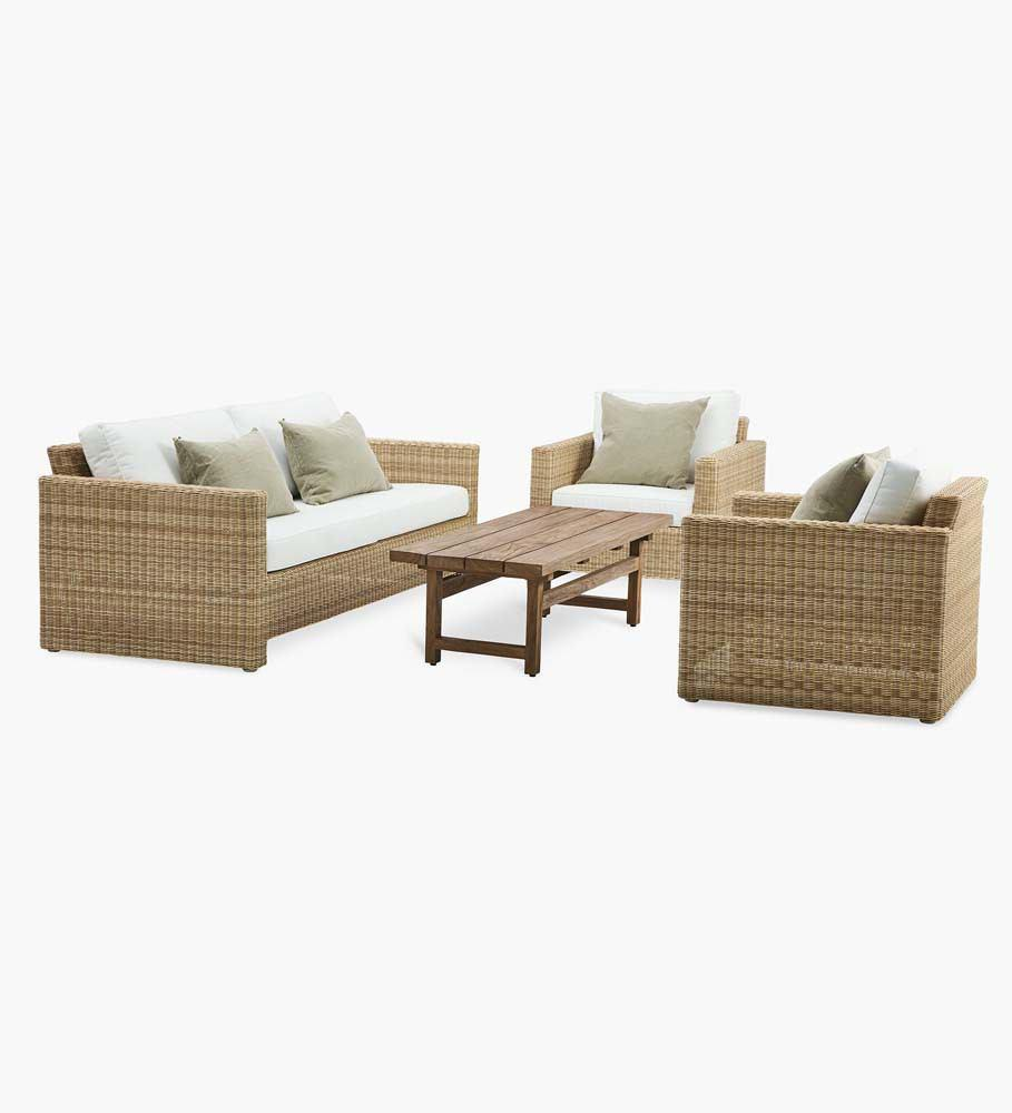 Sika Design Sixty Lounge Chair - Alu-Rattan Natural