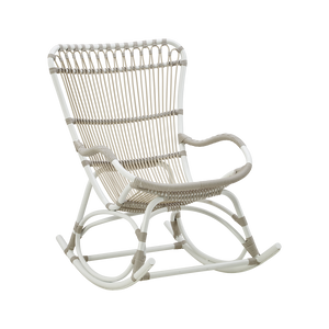Sika Design Monet Rocking Chair - Alu-Rattan - Dove White