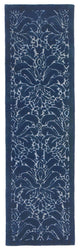Seville Modern Damask Denim Indoor Rug