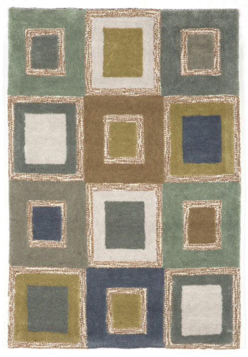 Spello Big Squares Ocean Indoor/Outdoor Rug
