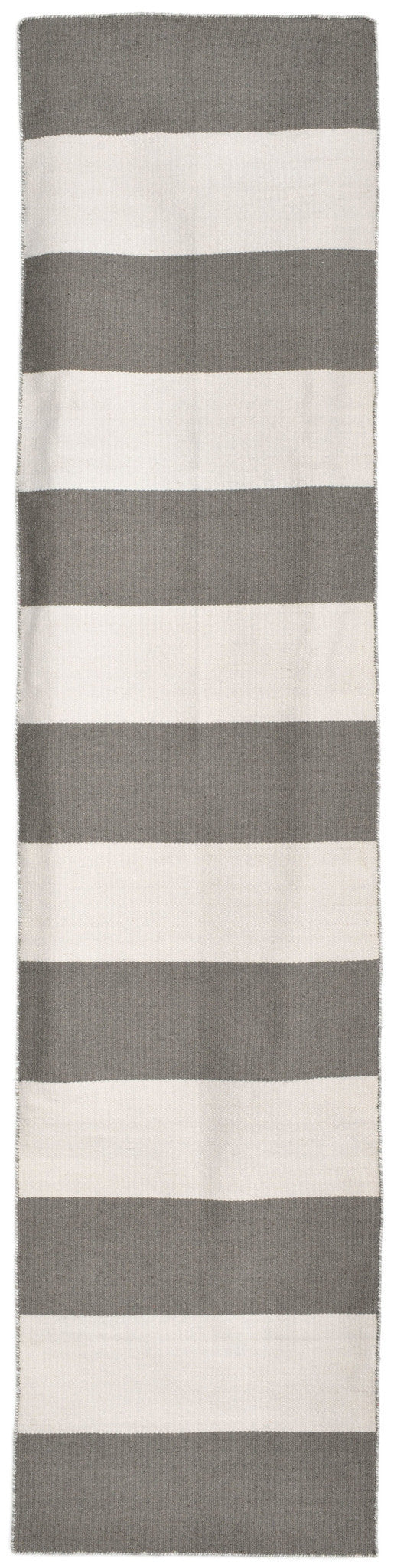 Sorrento Rugby Stripe Grey Indoor/Outdoor Rug