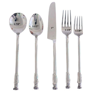 Haussmann Leaf 3 Coil Round Flatware 5 Pc Setting X 4 Place Settings