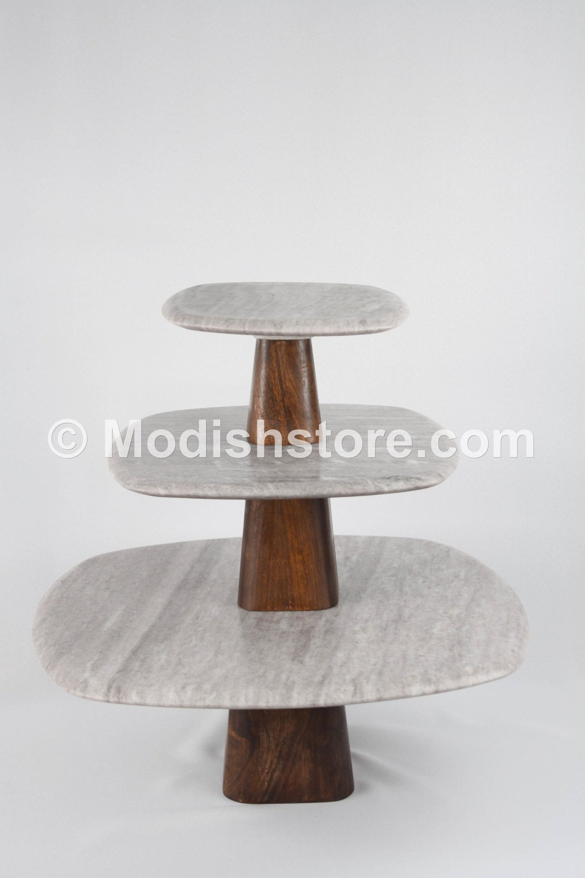 Roost Curve Marble Pedestals - Set Of 3