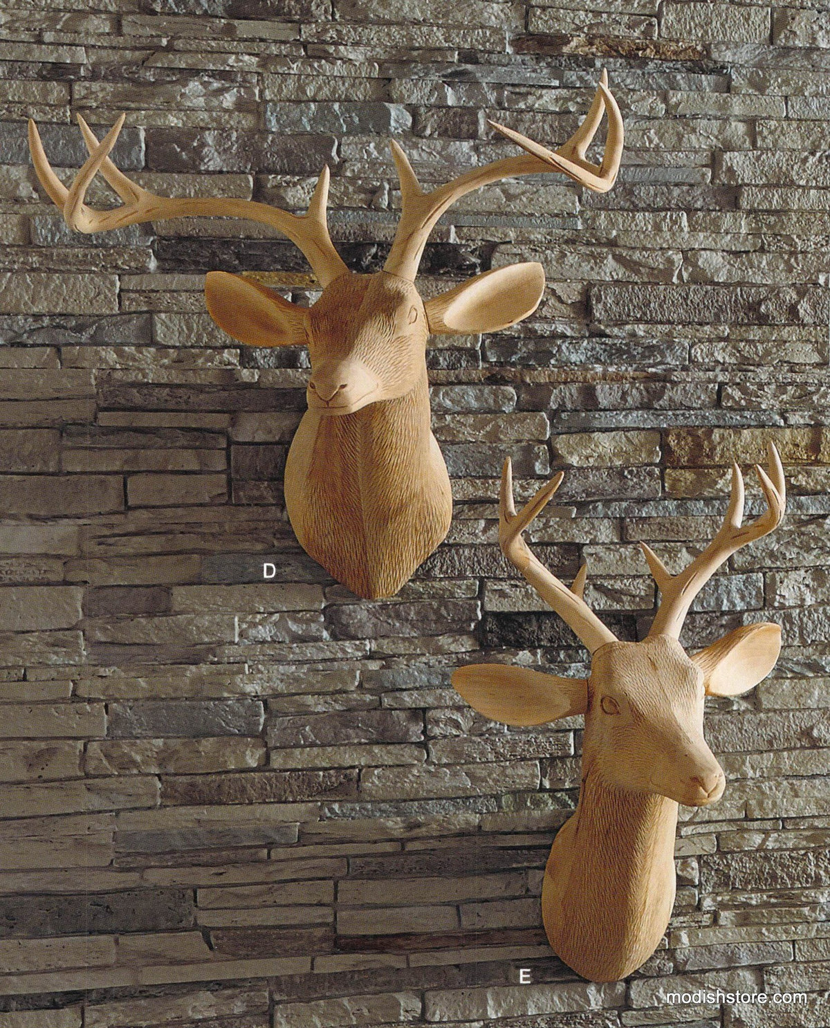 Roost Carved Wood Deer Head - Facing Left - out of stock